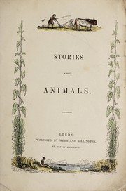 Cover of: Stories about animals |
