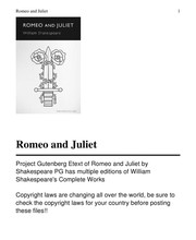 Cover of: Romeo and Juliet |