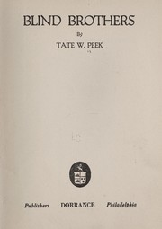 Cover of: Blind brothers | Tate W. Peek