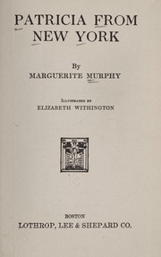 Cover of: Patricia from New York | Marguerite Murphy