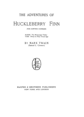 The Adventures of Huckleberry Finn (1899 edition) | Open Library