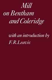 Cover of: Mill on Bentham and Coleridge