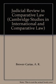 Cover of: Judicial review in comparative law