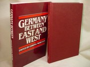 Cover of: Germany between East and West |