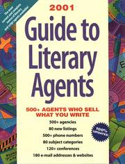 Cover of: Guide to Literary Agents 2001 | Donya Dickerson
