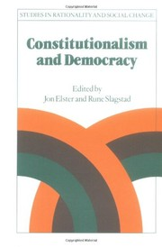 Cover of: Constitutionalism and democracy