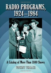 Cover of: Radio Programs, 1924-1984: A Catalog of More Than 1800 Shows