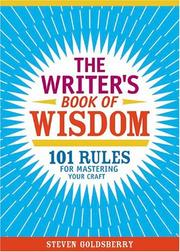 Cover of: The writer's book of wisdom | Steven Goldsberry