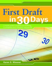 Cover of: First draft in 30 days | Karen Wiesner