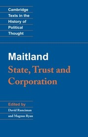 Cover of: Maitland: state, trust and corporation