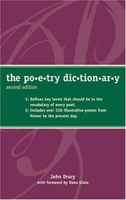 Cover of: The poetry dictionary