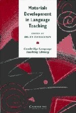 Materials development in language teaching by edited by Brian Tomlinson.