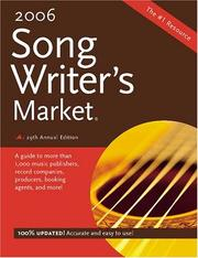 Cover of: Songwriters Market 2006 (Songwriter