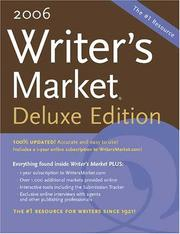 Cover of: 2006 Writers Market (Deluxe Edition)(Writer's Market Online) |