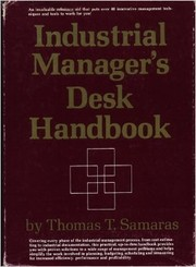 Cover of: Industrial manager
