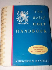 Cover of: The Brief Holt Handbook