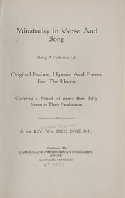 Cover of: Minstrelsy in verse and song | William Thomas Dale