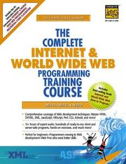 Cover of: The Complete Internet and World Wide Web Programming Training Course (1st Edition) | Harvey M. Deitel