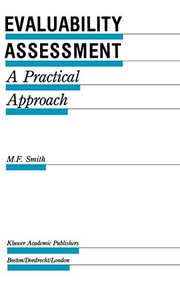 Cover of: Evaluability assessment | M. F. Smith
