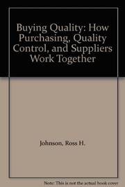 Cover of: Buying quality | Ross H. Johnson