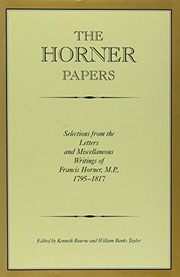 Cover of: The Horner papers | Francis Horner