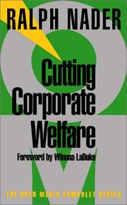 Cover of: Cutting Corporate Welfare