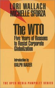 Cover of: The Wto | Lori Wallach