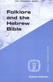 Cover of: Folklore and the Hebrew Bible | Susan Niditch