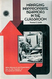 Cover of: Managing Inappropriate Behavior in the Classroom