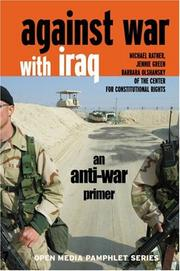 Cover of: Against war in Iraq | Michael Ratner