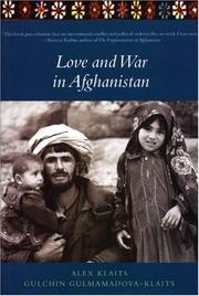 Cover of: Love and war in Afghanistan | Alexander Klaits
