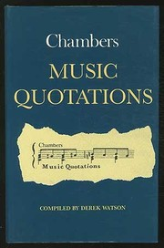 Cover of: Chambers music quotations |