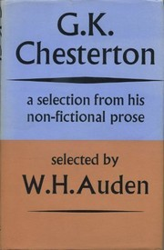 Cover of: G. K. Chesterton: a selection from his non-fictional prose