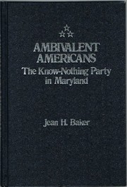 Cover of: Ambivalent Americans | Jean H. Baker
