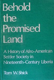 Cover of: Behold the promised land | Tom W. Shick