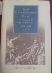 Cover of: Revolt in prerevolutionary France