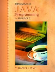 Cover of: Introduction to Java Programming with JBuilder 3