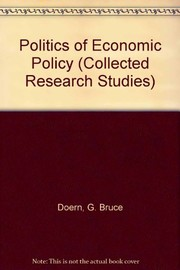 Cover of: The Politics of economic policy |