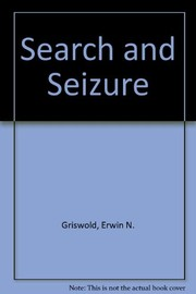 Cover of: Search and seizure