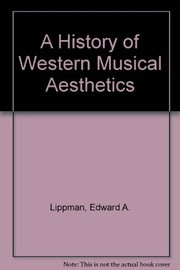 Cover of: A history of Western musical aesthetics
