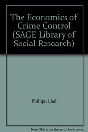 Cover of: The economics of crime control | Llad Phillips