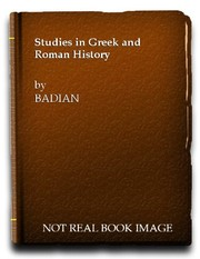Cover of: Studies in Greek and Roman history