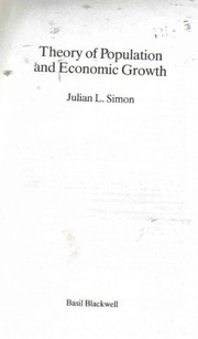 Cover of: Theory of population and economic growth