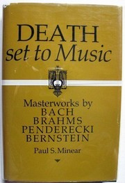 Cover of: Death set to music | Paul Sevier Minear