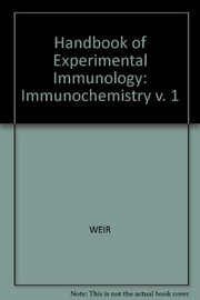 Cover of: Handbook of experimental immunology | D. M. Weir