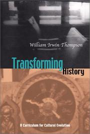 Cover of: Transforming History | William Irwin Thompson