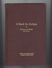 Cover of: A book for judges | Wilson, J. O.