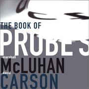 Cover of: The book of probes: Marshall McLuhan, David Carson.