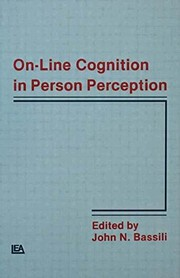 Cover of: On-line cognition in person perception |