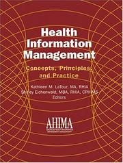 Cover of: Health information management |